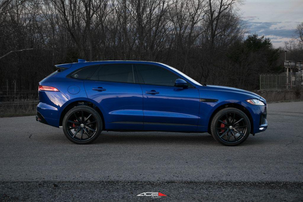 Caesium Blue Jaguar F Pace On 22 Ace Alloy Convex Jaguar Custom Accessories Blue