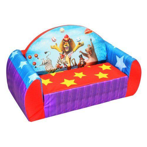 Dreamworks Madagascar 3 Circus Toddler Flip Sofa Kids Sofa Sofa