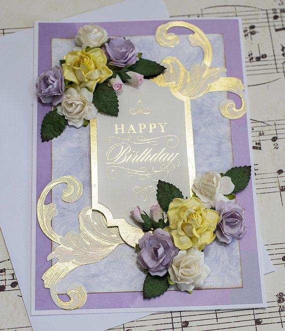Elegant Birthday Card Card For Her Friend Birthday Card Etsy Birthday Cards For Friends Handmade Birthday Cards Elegant Birthday
