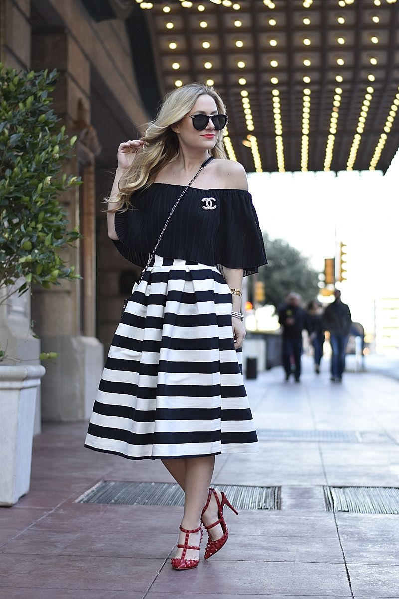 Black And White Stripes Murphy S Law Beautiful Outfits Striped Dress White Striped Skirt [ 1200 x 800 Pixel ]