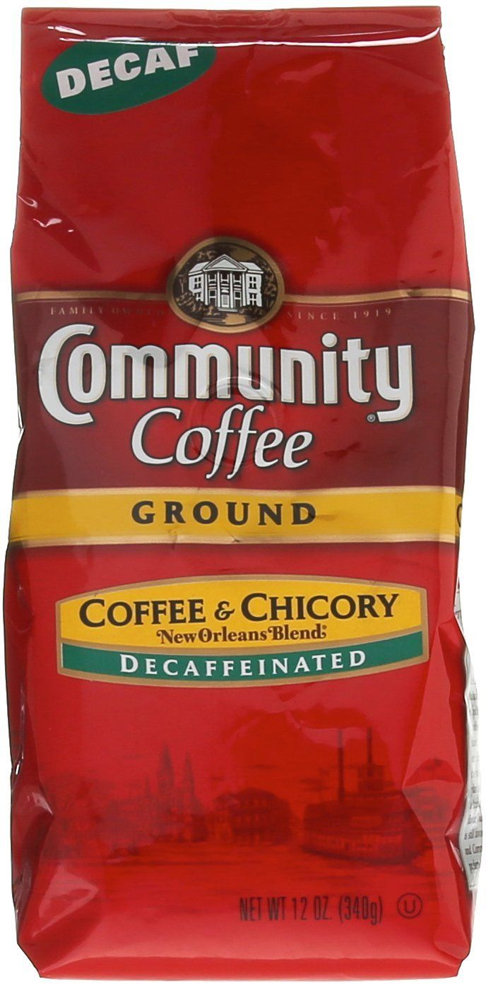 Community Coffee Ground Coffee and Chicory Decaf *** Read
