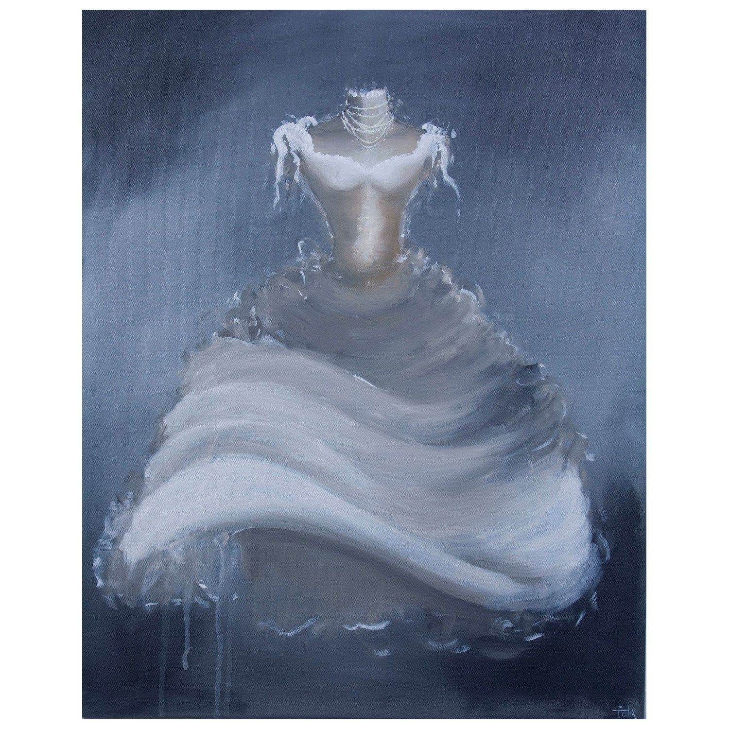 Giselle gray and white acrylic on canvas art très chic pinterest