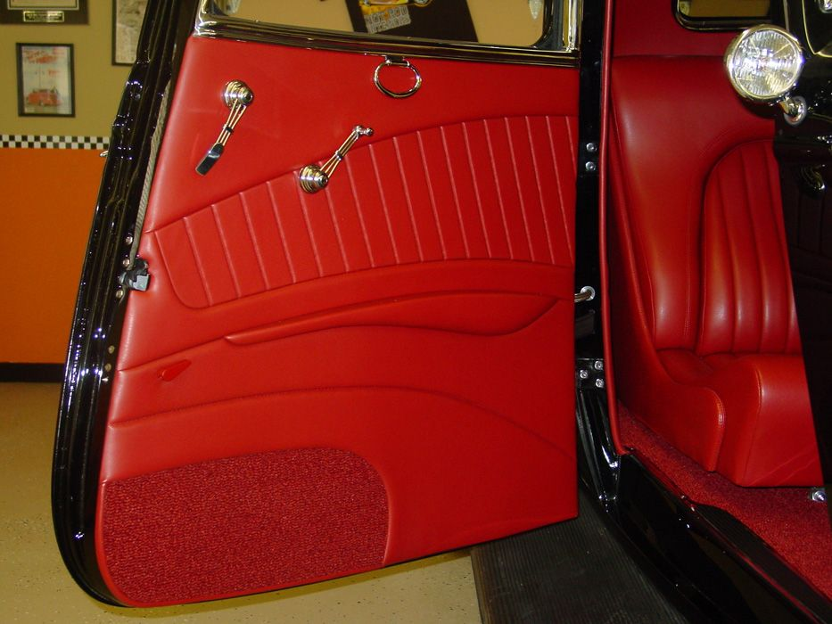 1934 Ford Coupe M And M Hot Rod Interiors Automotive Upholstery Designer Upholstery Fabric Car Upholstery