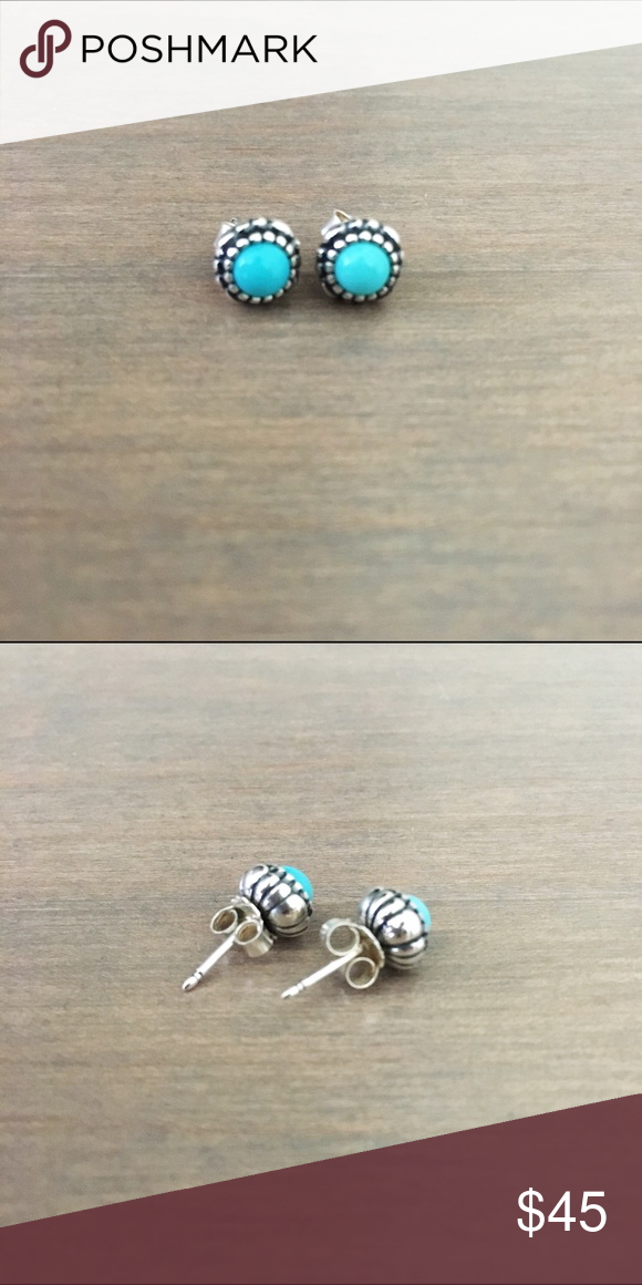 ea67949f8 ... shop pandora bundle 100 authentic brand new never worn pandora sterling  turquoise post birthday blooms earrings