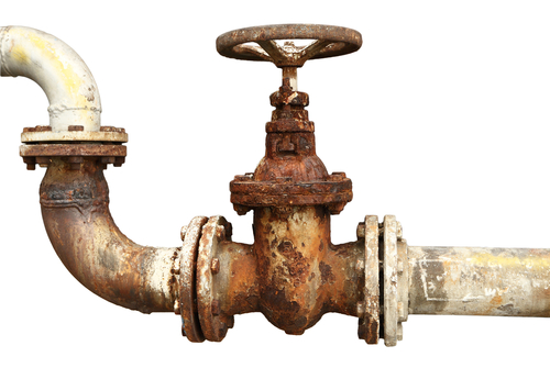 Rusty Pipes Industrial Tap Pipes Stock Photos