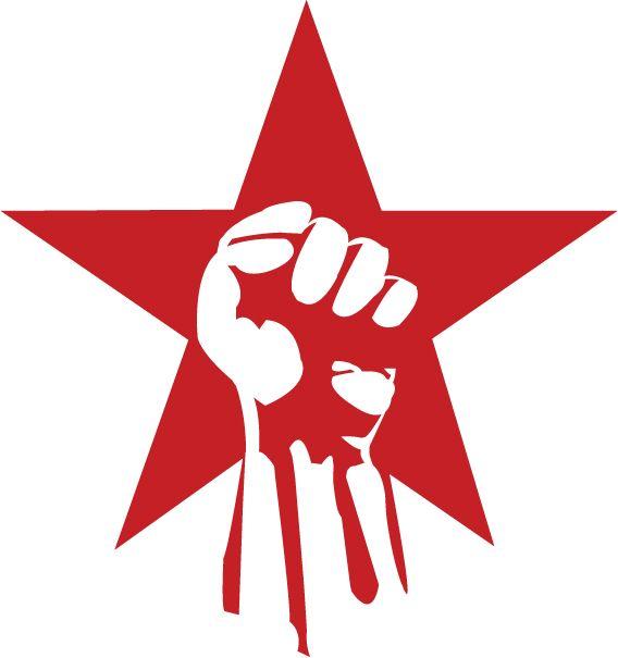 Revolutionary Red Star Protest Art Flag Art Red Star Logo