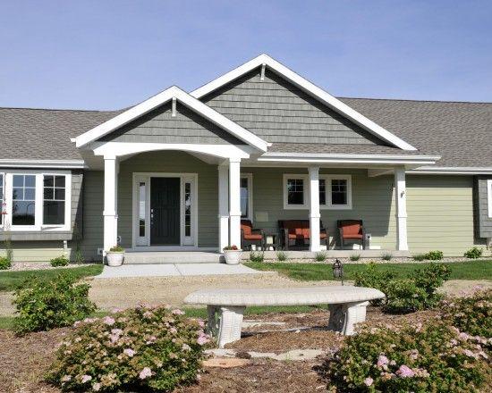 Gabled Porches Design Ideas Pictures Remodel And Decor Ranch House Exterior House Front Porch Front Porch Design