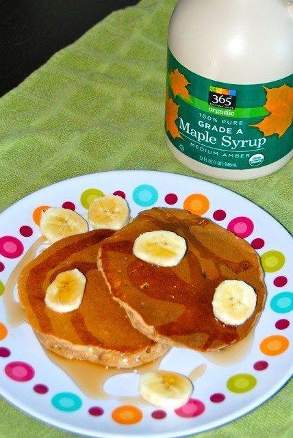 Bananen-Haferflocken-Pfannkuchen   - Frühstück -