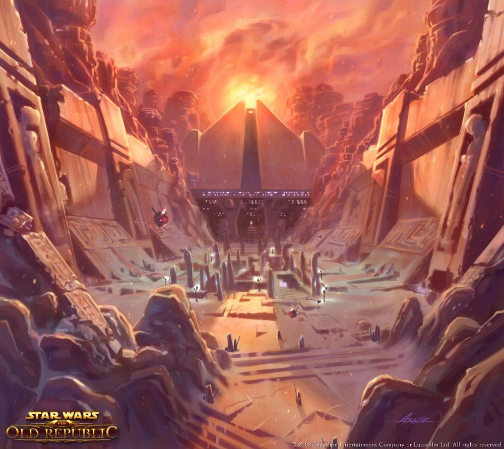 Swtor Concept Art Korriban Star Wars Planets Star Wars The Old Star Wars Sith