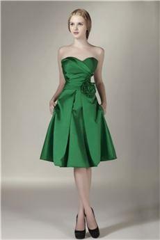 8aae65bfe4e5 Lindo Vestido de Dama de Honor Silueta Línea A Rodilla-Largo Sasha's ...
