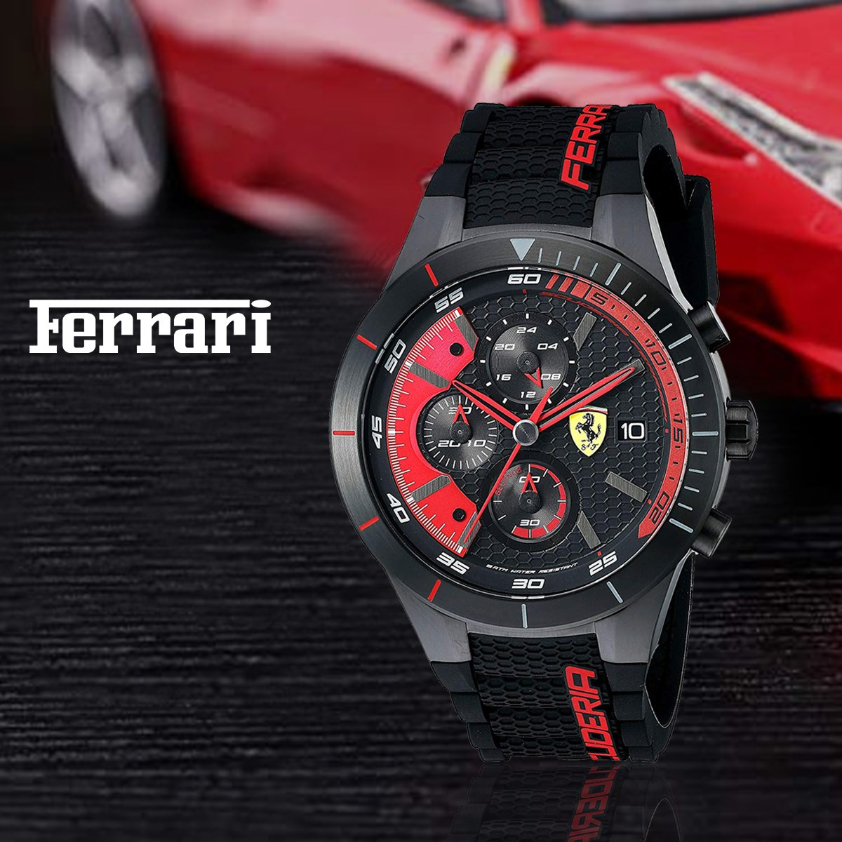 Ferrari Scuderia Ferrari Analog Black Dial Men's Watch.  Model 830260 Price Rs.54,300