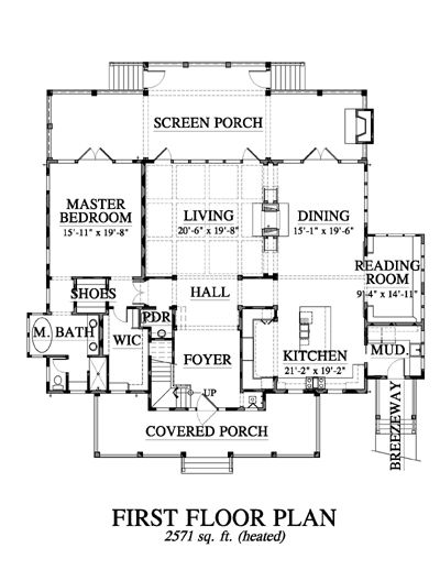 Allison ramsey architects floorplan for old oyster for Allison ramsey house plans