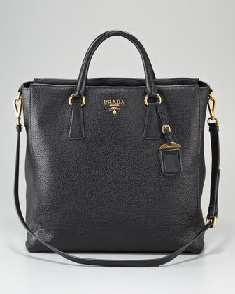 01ce5f379df3 Prada Vitello Daino North-South Tote Bag