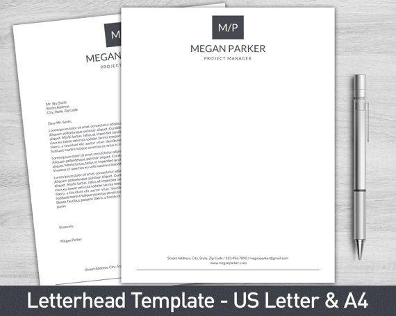 Awesome Letterhead Template For Word Personalized By ProGraphicDesign
