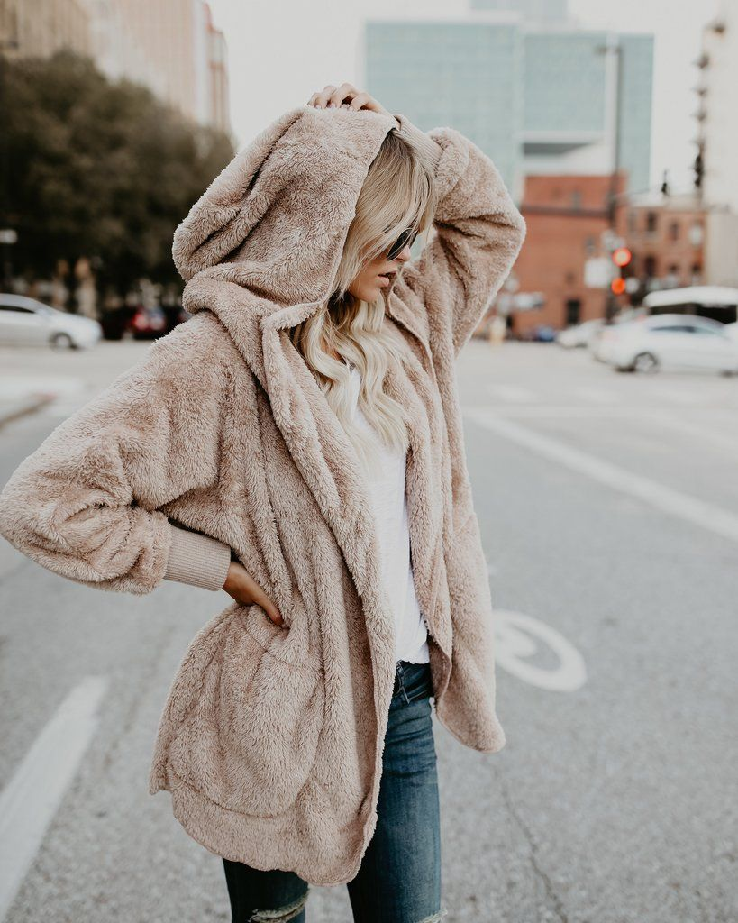 b49118317 The Coziest Yet Pocketed Cardigan - Tan