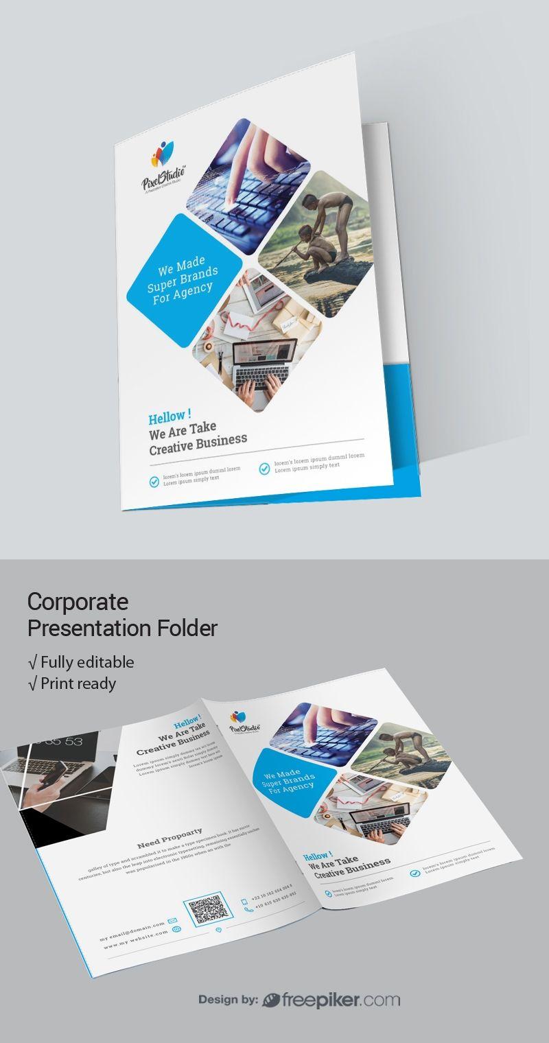 Corporate presentation folder presentation folder design