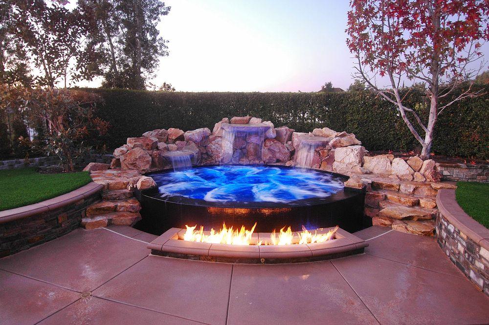 Pin By Rhone Thrash On House Hot Tub Backyard Inground