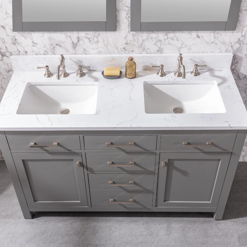 Atencio 54 Double Bathroom Vanity Set In 2021 Double Bathroom Vanity Bathroom Vanity Bathroom Vanity Redo 54 inch bathroom vanity double sink