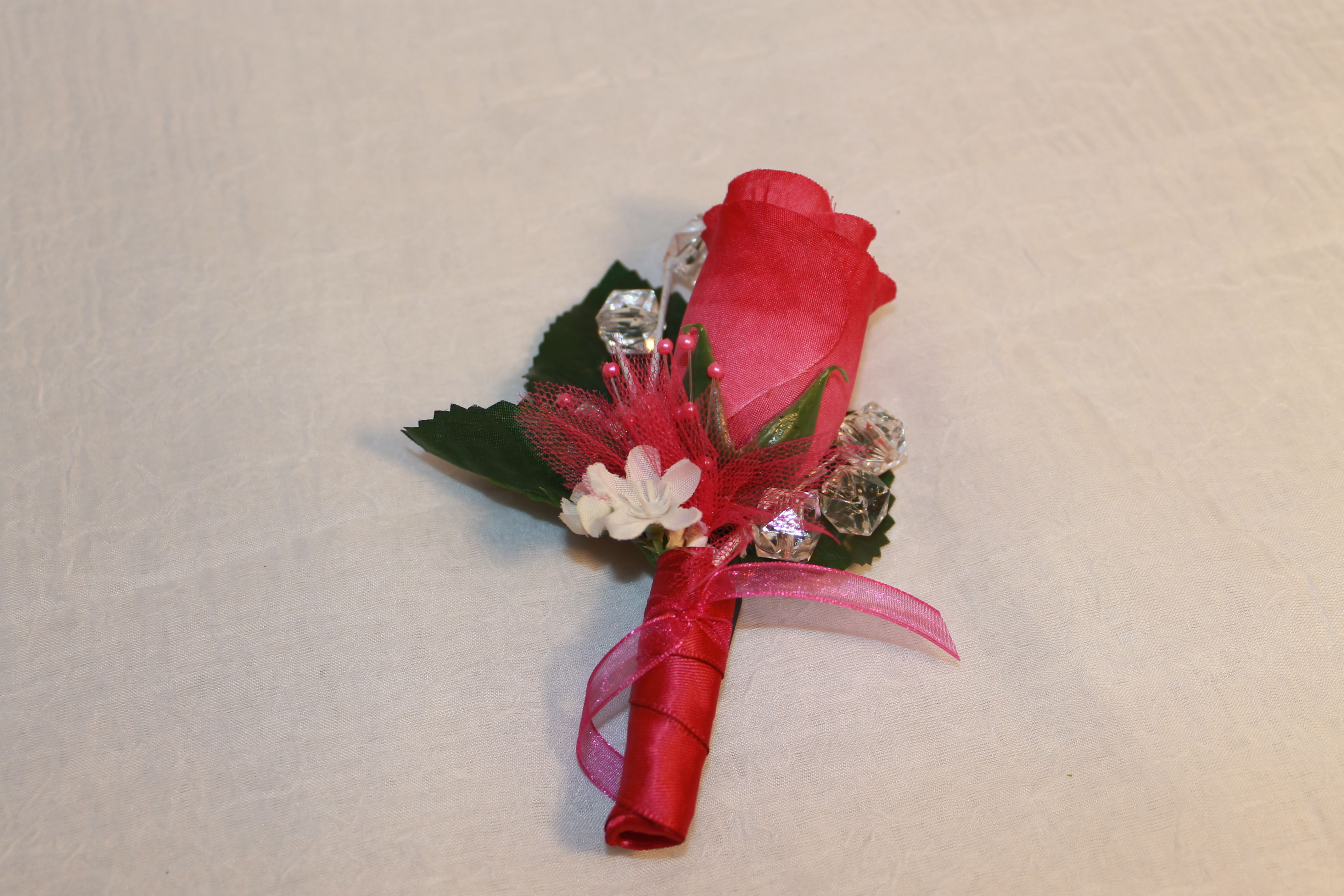Pink Silk Corsage For Prommothers Dayanniversarywedding