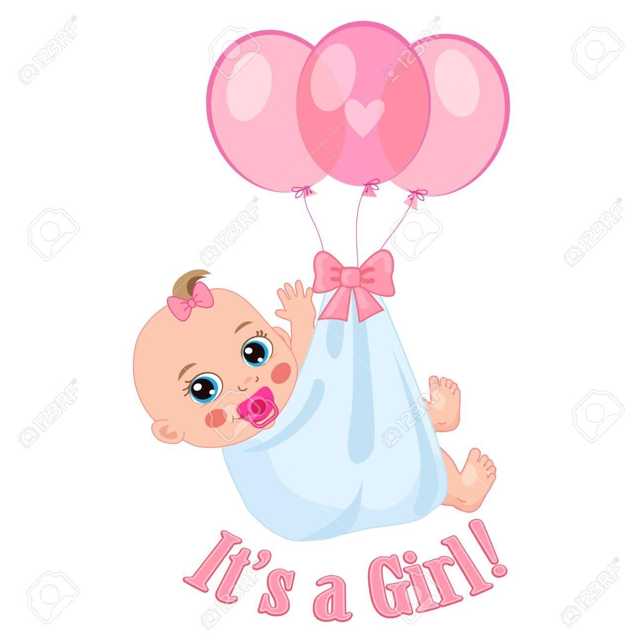 Imagini Pentru It S A Girl Baby Girl Shower Cards Kids Invitation Card Baby Girl Cartoon Images