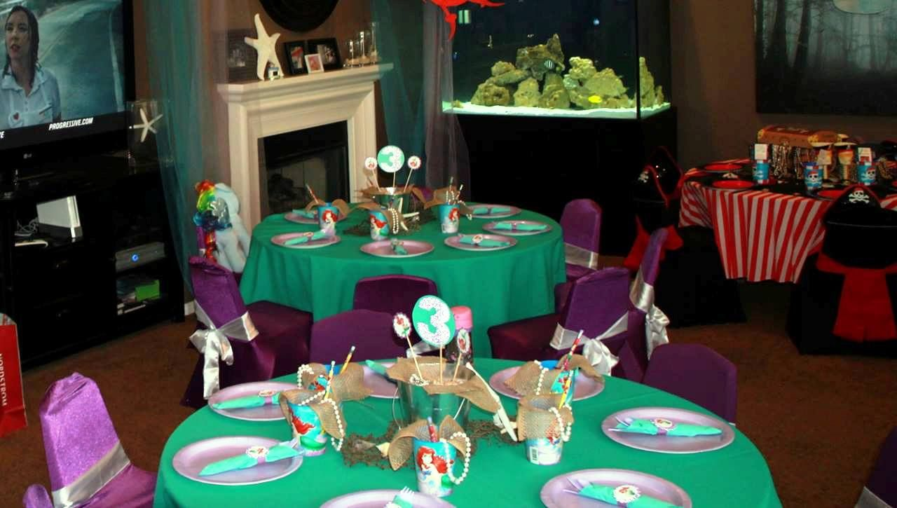 Little Mermaid party, Ariel Party, decorations, centerpieces, kid ...