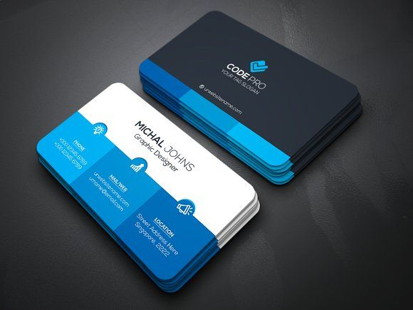 Corporate business card by create art on creativemarket best corporate business card by create art on creativemarket best business card pinterest corporate business and business cards reheart Image collections