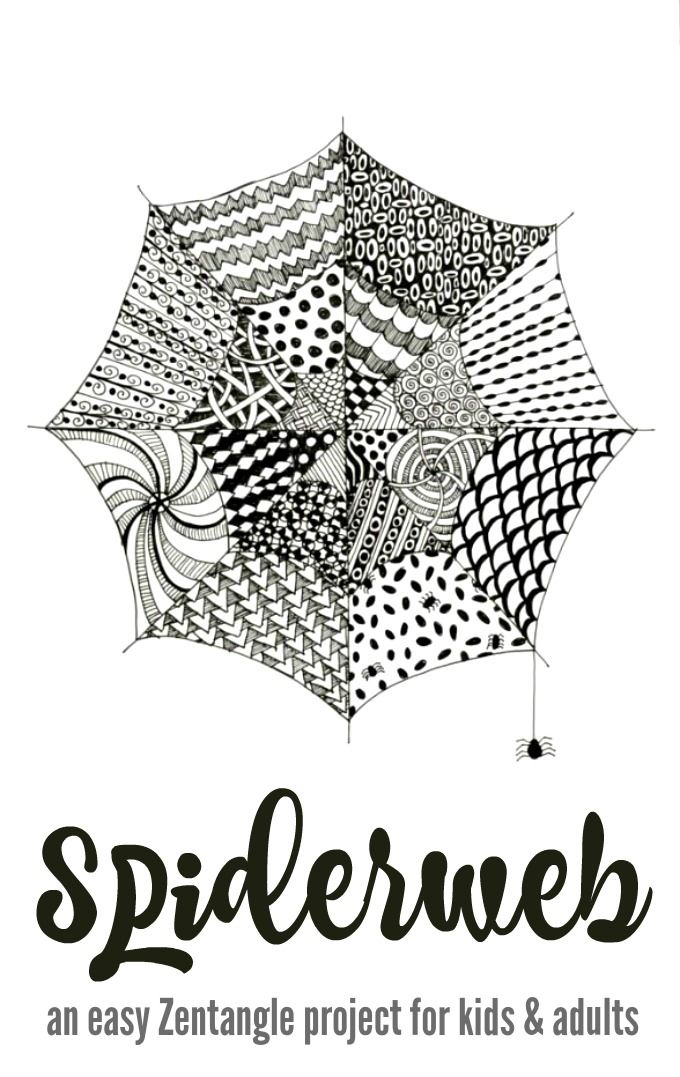Tangled Webs :: An Easy Zentangle Project for Kids (and Adults ...