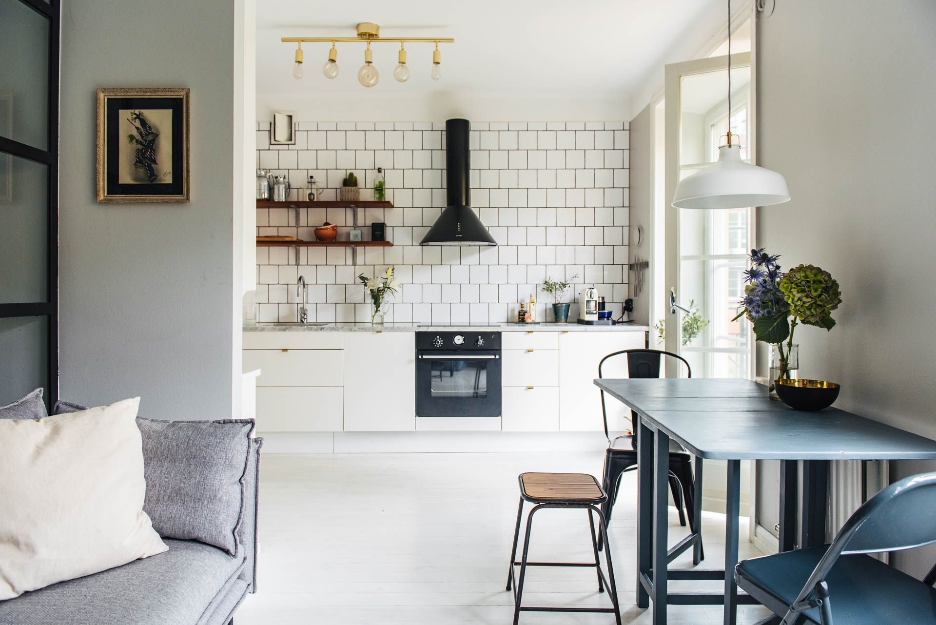 Stoere Industriele Loft : Stoere mini loft van 38m2! interieur pinterest keuken kleine