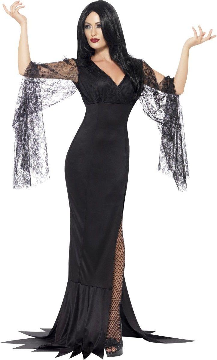 Favori Déguisement sorcière avec dentelle noire femme Halloween  RJ31