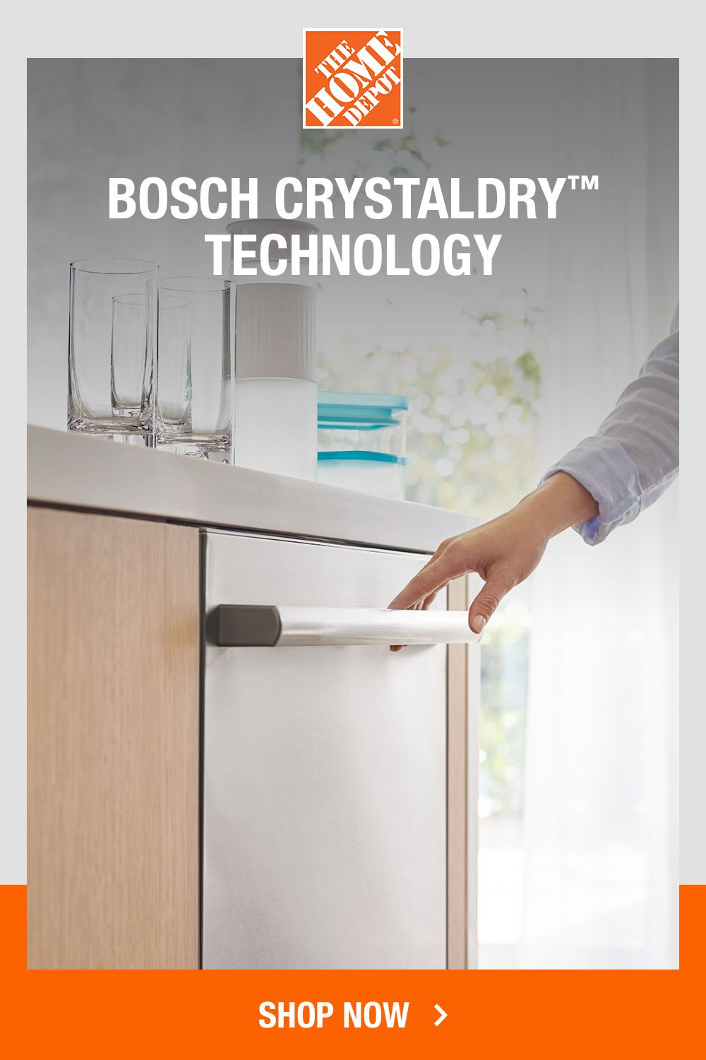 Bosch 800 Series 24 In Stainless Steel Top Control Tall Tub Dishwasher With Stainless Steel Tub Crystaldry 42dba Shxm78z55n The Home Depot Steel Tub Dishwasher Bosch Dishwashers