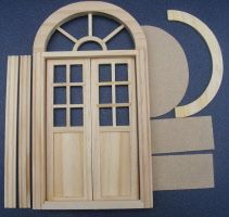 Photo of dolls-house-miniature door arched