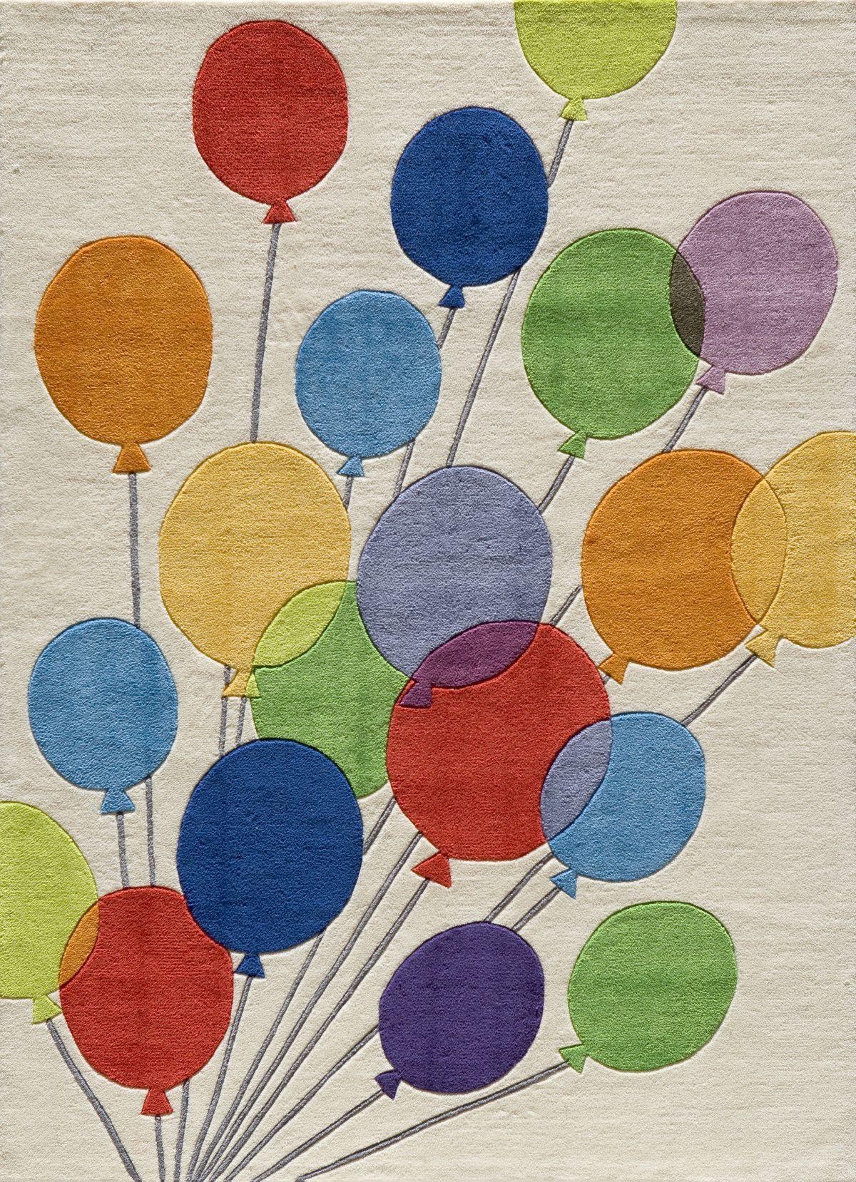Momeni Lil Mo Whimsy Balloon Kids Rug