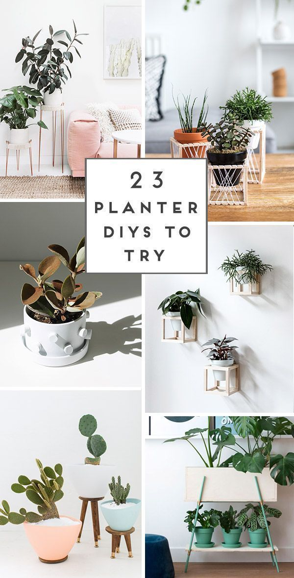 (Green) Thumbs Up: 23 Unique DIY Planters You'll Actually Want to Make -   25 unique diy art ideas