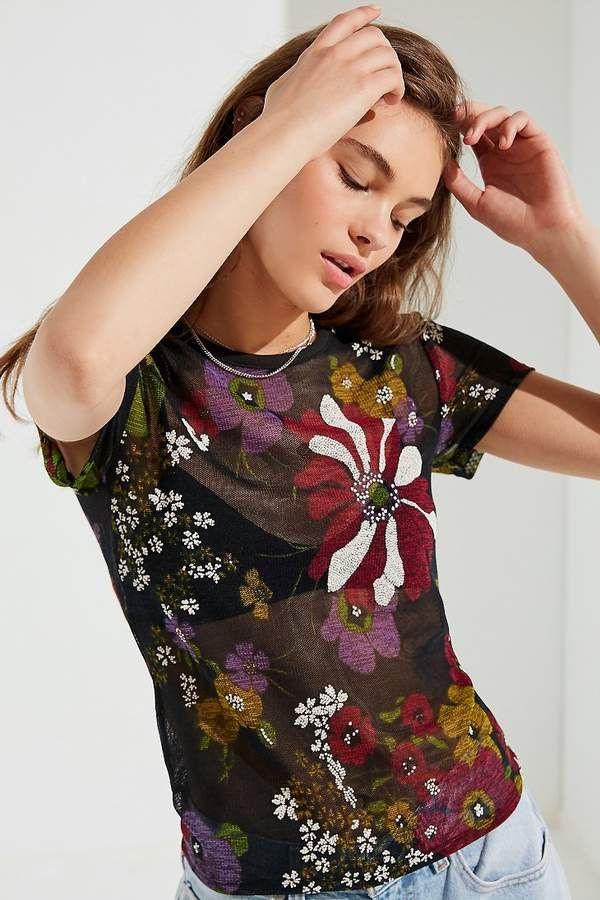 2c1acdf06e3410 Urban Outfitters Paradise Mesh Tee Staple Wardrobe Pieces