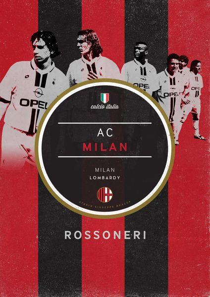 Football Italia On Behance Ac Milan Football Poster Milan
