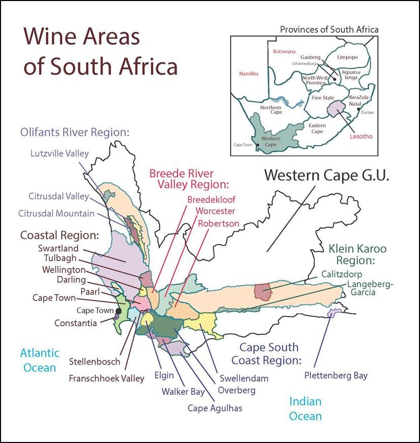 South Africa SWE Map 2018 Wine, Wit, and Wisdom South
