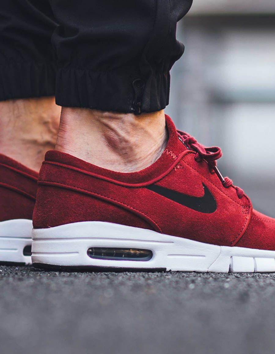 low priced e8bb9 4b7c9 Max Suede  nike Burgundy Sneakers, Sb Stefan Janoski Max, Nike Sneakers, Air