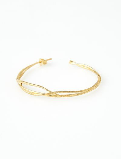 Alex Monroe Fine Twig Earrings- Gold - KJs Laundry