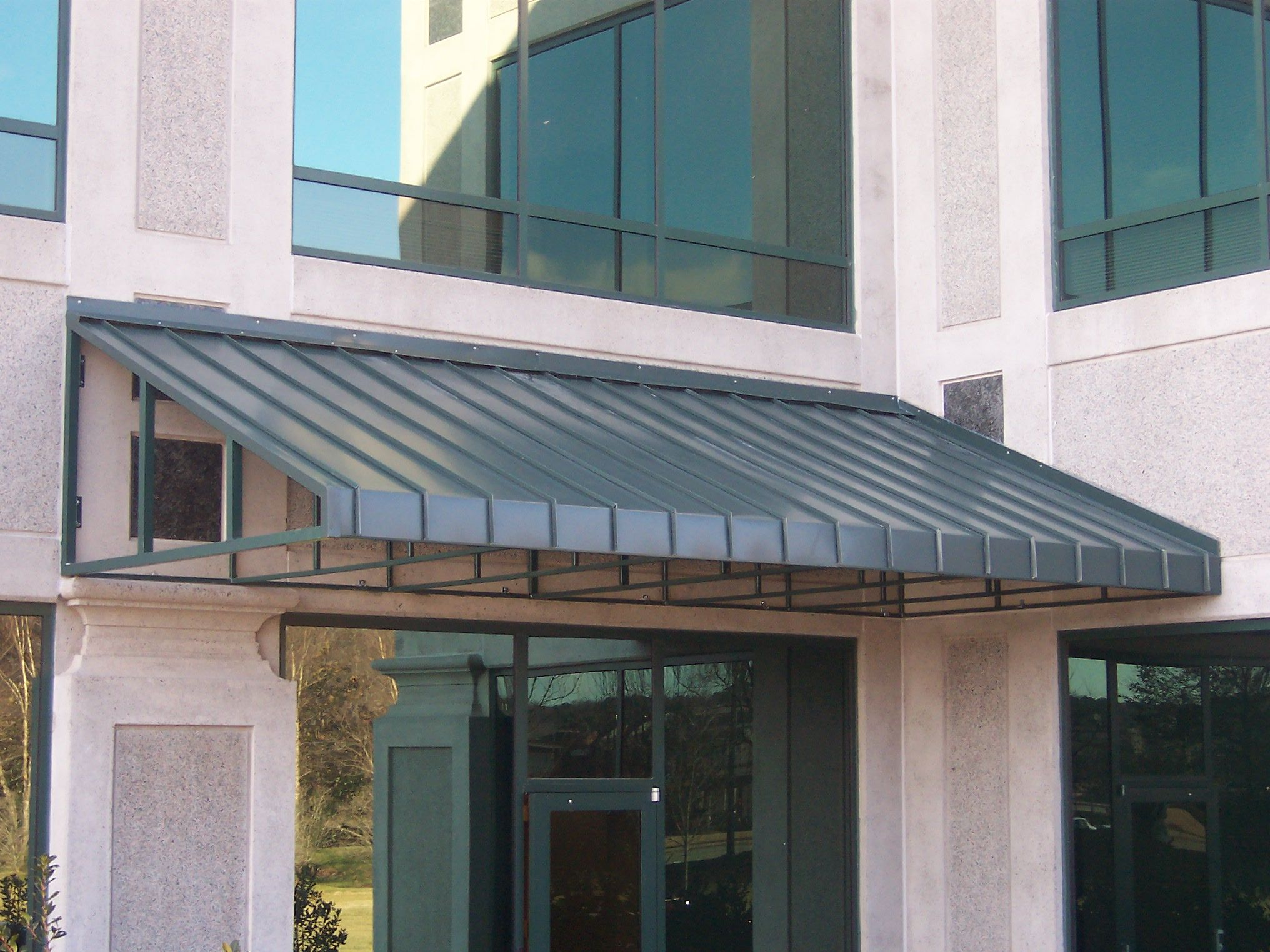 steel awnings metal perth shop awning