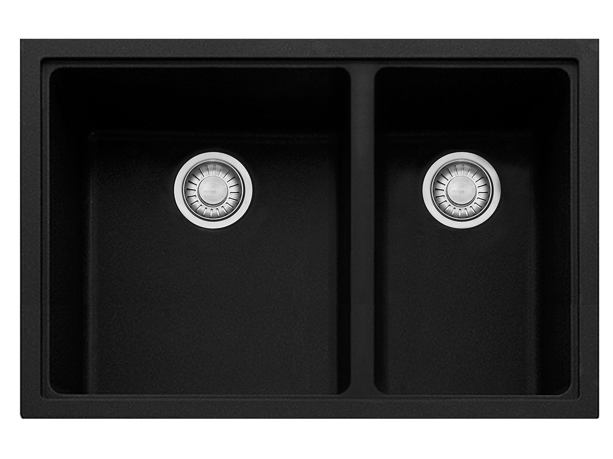 Franke Impact Granite 1 2/3 Bowl Undermount Sink Onyx   Kitchen + ...