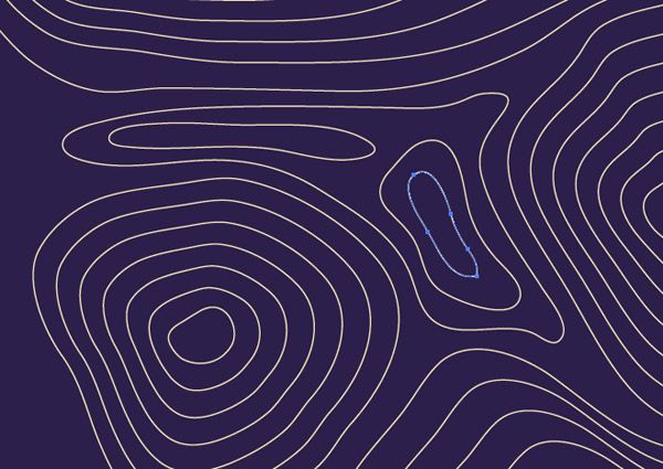 Contour Line Drawing Algorithm : How to create a contour map effect in illustrator art