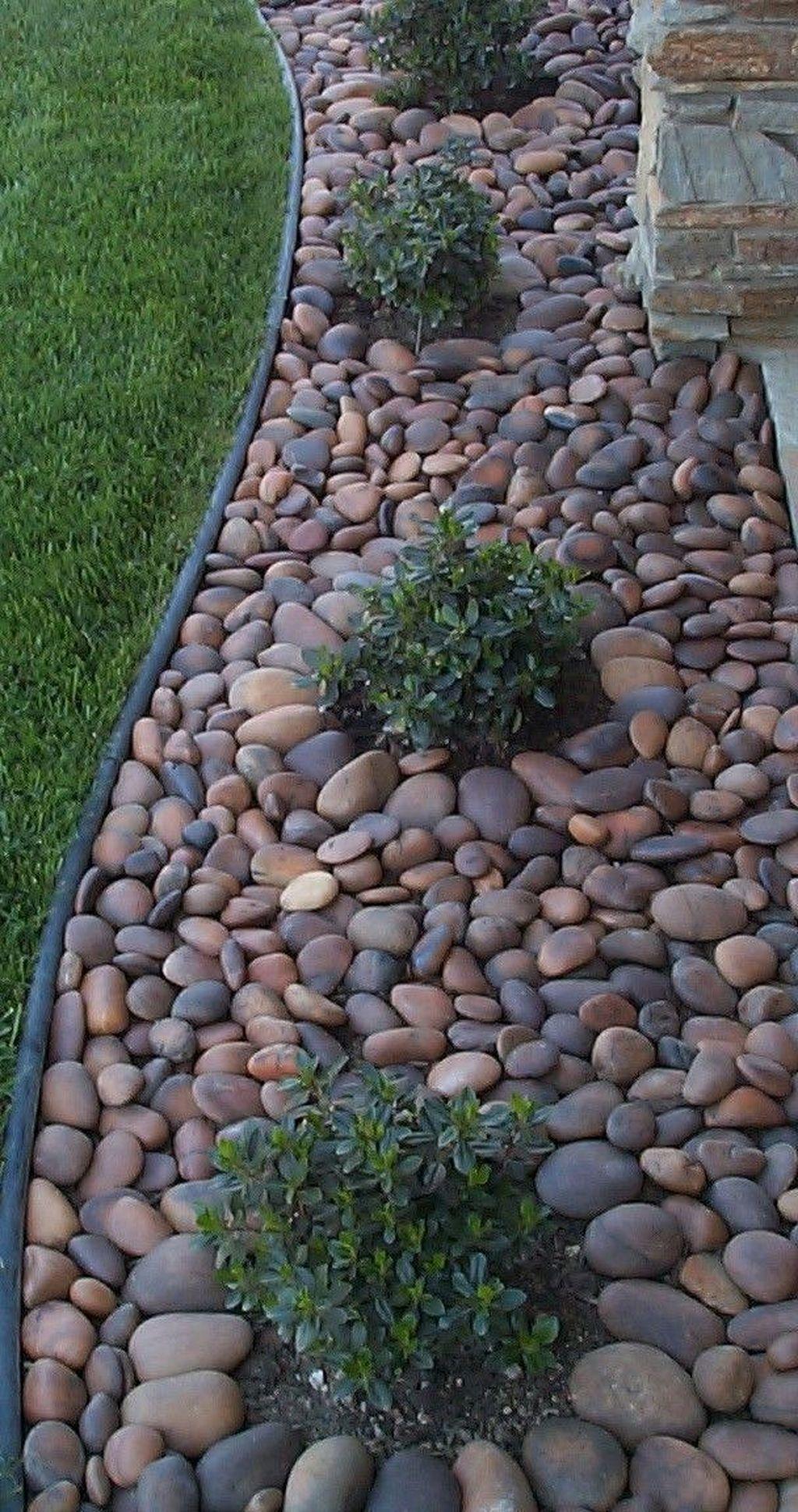 Stunning 30 Fancy Garden Decorating Ideas With Rocks And Stones Https Kidmagz Com 3 Landscaping With Rocks Front Yard Landscaping Small Backyard Landscaping