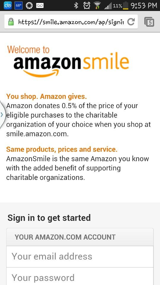 Smile Amazon Com Supports Charity And You Shop Same Amazon