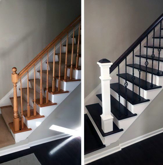 Top 70 Best Stair Railing Ideas: Top 70 Best Painted Stairs Ideas - Staircase Designs