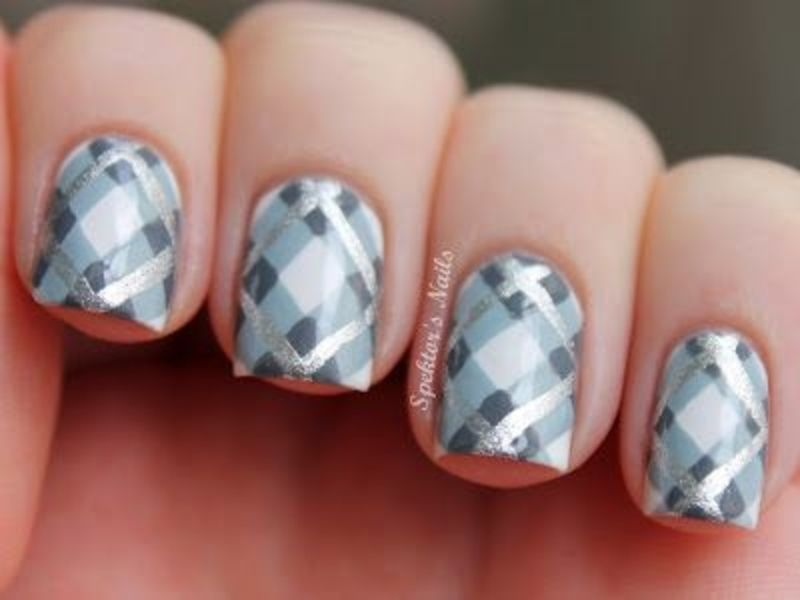 39 #Awesome Plaid Nail Art Designs for Your Preppy Days . - 39 Awesome Plaid Nail Art Designs For Your Preppy Days Plaid