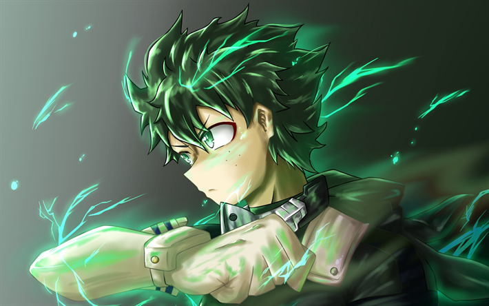 Download Wallpapers Midoriya Izuku Green Fire My Hero Academia Manga Izuku Midoriya 3d Art Boku No Hero Academia Besthqwallpapers Com My Hero Academia Anime Wallpaper Phone Cool Anime Wallpapers