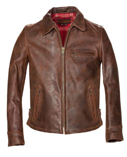 SCHOTT Storm - Heavyweight Oiled Nubuck Leather Biker Jacket STYLE: P673