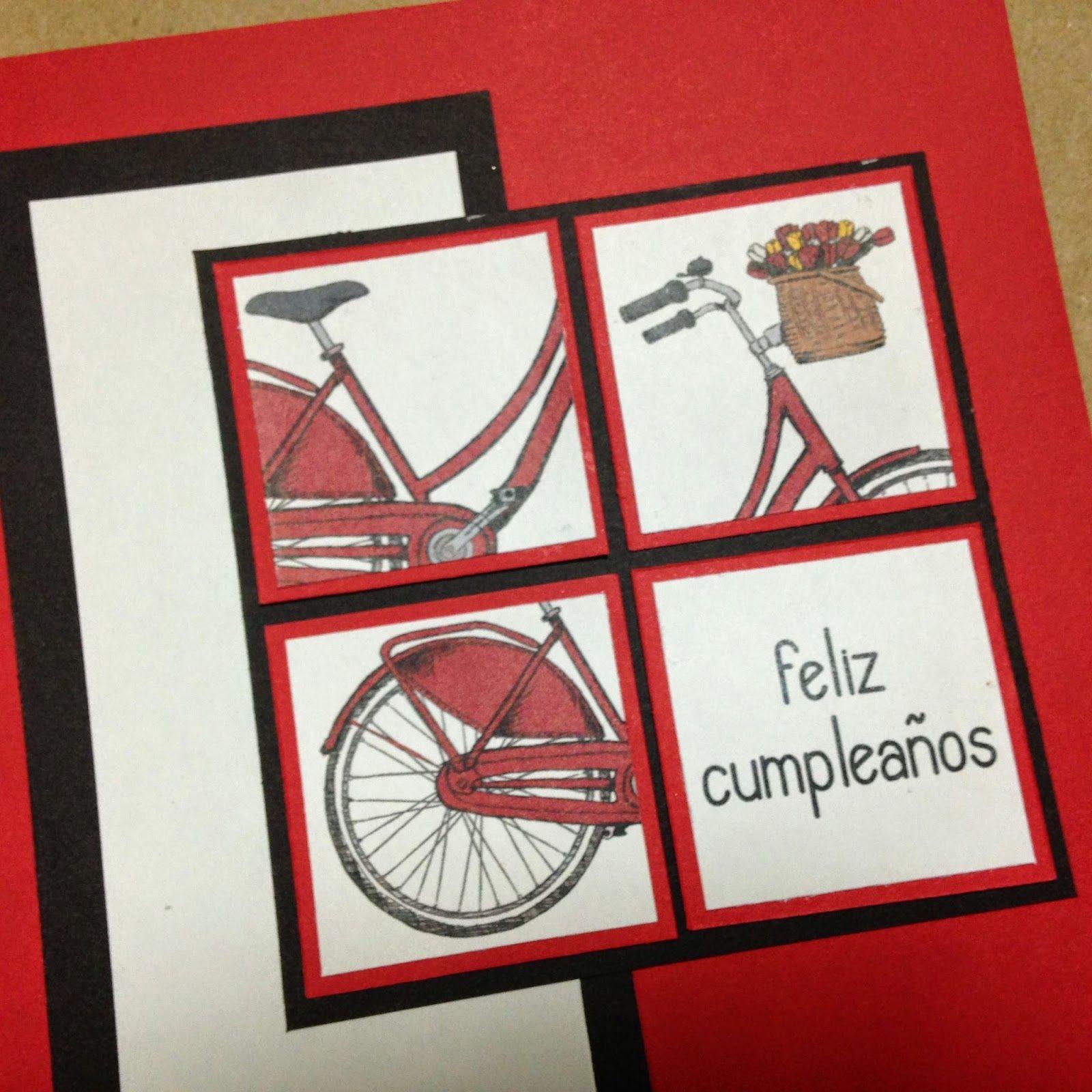 G* Manualidades: DIY: Tarjetas de cumpleaños de bicicletas