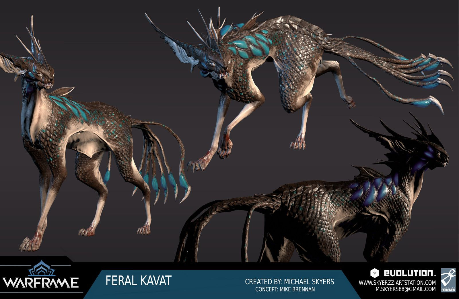 Warframe Feral Kavat Catbrow Michael Skyers On Artstation At Https Www Artstation Com Artwork Rw9mg Alien Creatures Creature Concept Art Fantasy Creatures