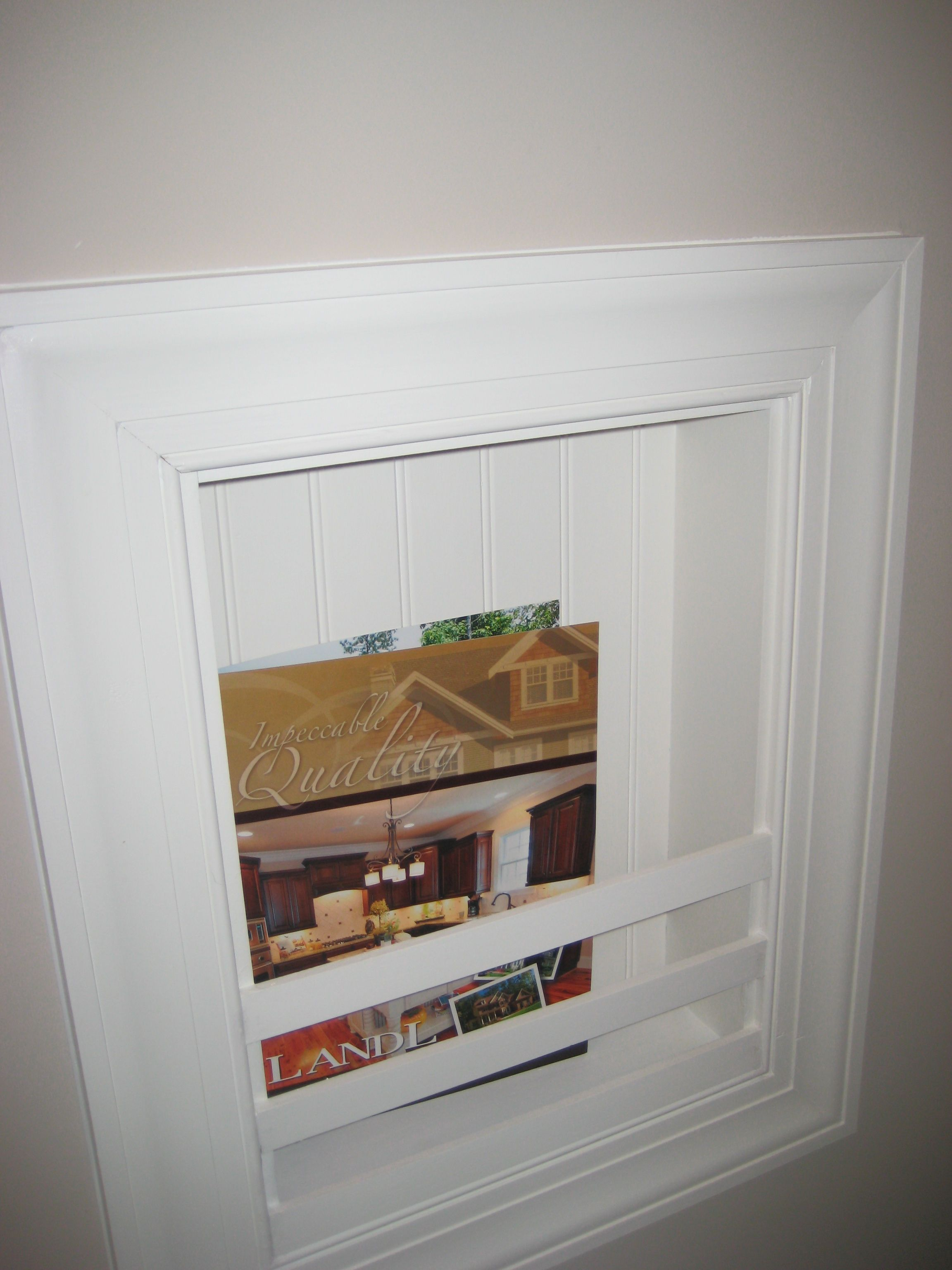 Homeowners Love This Built In Magazine Rack In The
